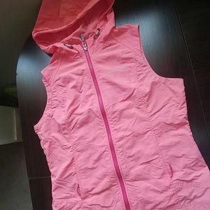 Eddie Bauer pink windbreaker vest